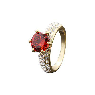 Creative Fashion Artificial Diamond Large Gem Zircon Ring