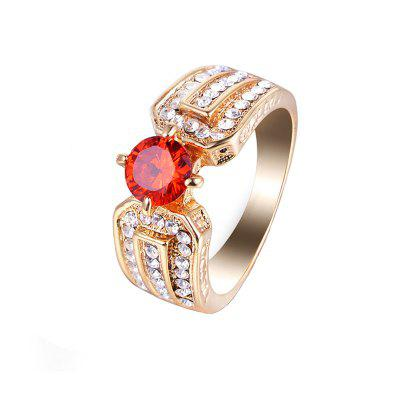 New Creative Artificial Diamond Large Gem Zircon Ring