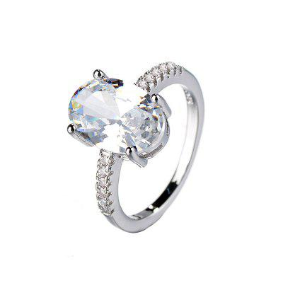 Moda Criativa Artificial Diamante Grande Gem Zircon Ring