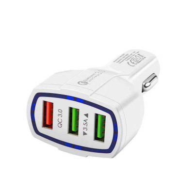 3 in 1 QC3.0 Quick Charge Car Charger with 3 USB Ports for Mobile Phones