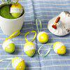 6pcs Easter Mini Egg Lace Colorful Baby Kid Drawing Color Birthday Gift - MULTI