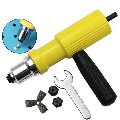 Electric Rivet Gun Riveting Cordless Drill Adaptor Insert Nut Tool 2.4mm-4.8mm