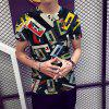 Fashion Vintage 3D Print Men Short Sleeve T-Shirt - MULTI-C