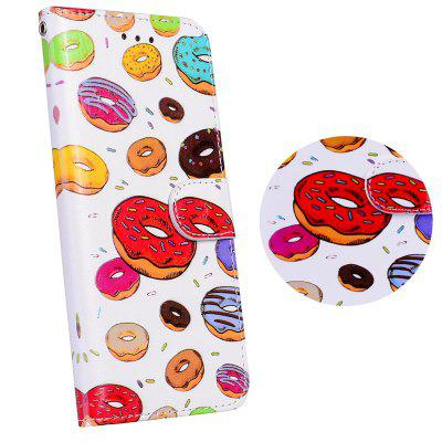 3D Relief Donuts Wallet Flip Phone Bag Case for iPhone 5/5S/SE