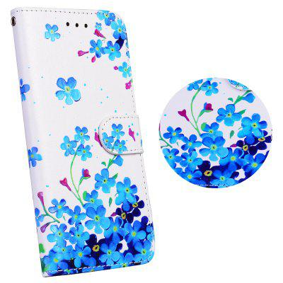 3D Reliefblume Leder Brieftasche Flip Phone Bag Case für iPhone 5 / 5S / SE