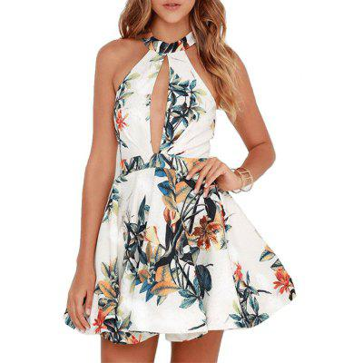 Summer Slim Print Mini Sexy A-Line Dress