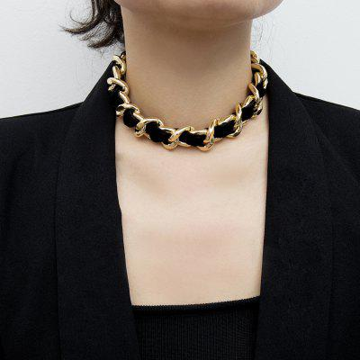 Simple Exaggerated Chain Winding Necklace