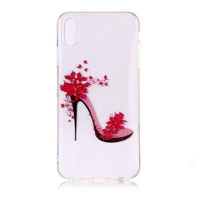 High Heels High Permeability Painting Phone Case for iPhone XR