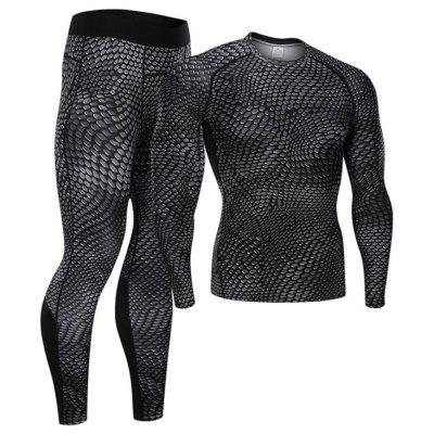 Snake Skin Baselayer Tights for Men Pants Shirts Fitness Running Cool Dry Tops