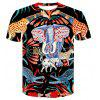 3D Print Women Men Casual T-Shirt Short Sleeve Graphic Tee 440 - MULTI-A