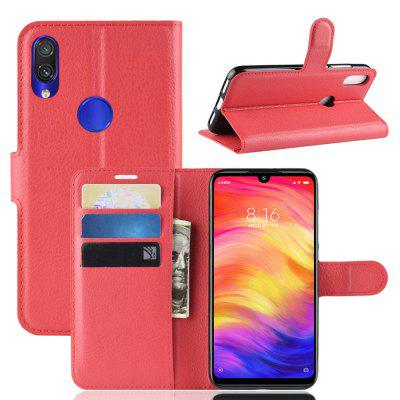 Litchi Pattern PU Leather Case for Xiaomi Redmi Note 7 / Note 7 Pro