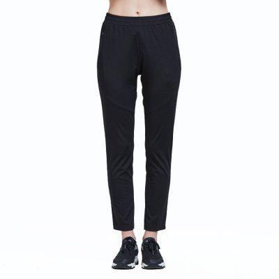 HUMTTO Knit Pants Women Breathable Loose Black Casual Sports Trousers
