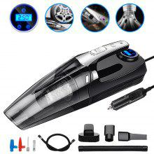 Car Vacuum Cleaner Portable Handheld Wet And Dry LED Dispaly Vacuum Cleaner - Black 1pc