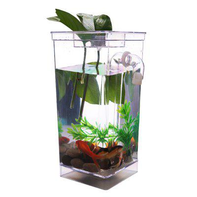Creative Mini LED Aquarium Cute EcologicalFish Tank for Kid Gifts