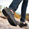 The First Layer of Leather Men'S Outdoor Wear Casual Sports Hiking Shoes - BLACK