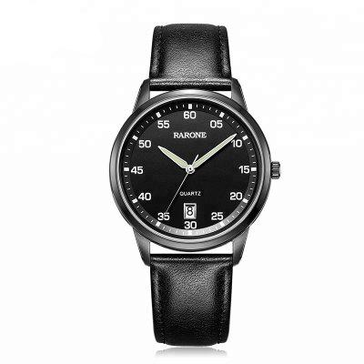 Moda Couro Genuine Wrist Man Quartz Watch