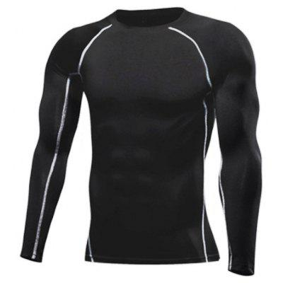 Men long Sleeve Fitness Quick Drying Training Sportswear