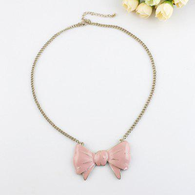 Collier Fashion Girl Pink Oil