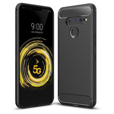 Luxe Carbon Soft Case voor LG V50 ThinQ