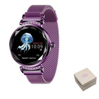 V6 H2 Women 3D Diamond Heart Rate Blood Pressure Sleep Monitor Smartwatch Image