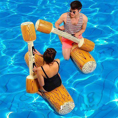 4PCS Adult Water Pair Touch Wood Grain Inflatable Floating Row Mount Water Toy