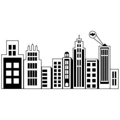Urban Architecture Silhouette Creative Living Room Bedroom Wall Sticker
