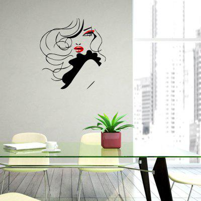 Red Lips Creative Home Sticker Living Room Wall Decoration