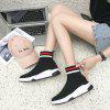 Fashion Flat-Bottomed Sneakers Casual Women Shoes V9-8 - BLACK