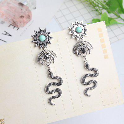 Style Ethnic Style Alloy Earrings Old Snake Long Earrings