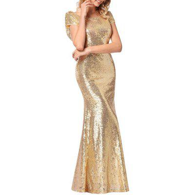 High-End Sequin Evening Dress