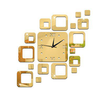 GZ010 Creative Acrylic Square Wall Clock Study Room Bedroom Living Room Wall