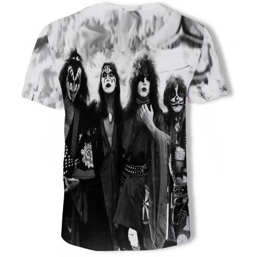 S Music Multi Men Art FashionT 3d Imprimé Courtes shirt À Manches m8wNn0