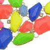Fashionable Coloured Hollow Jewel Necklace - DIGITAL DESERT CAMOUFLAGE