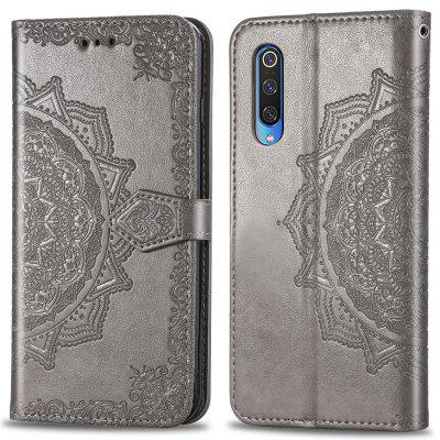 Embossing PU Leather Wallet Stand Case for Xiaomi Mi 9
