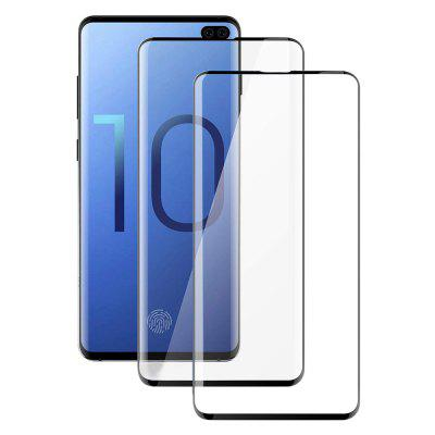 2 PCS 0.26mm 4D Curvo Full Screen Filme De Vidro Temperado para Samsung Galaxy S10 Plus