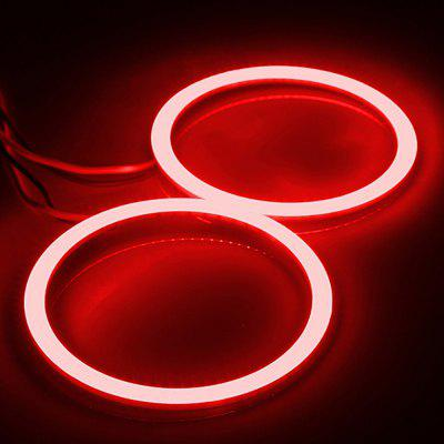 Car COB Halo Ring 70MM 81 LEDs Angel Eye Bulb Lamp Light 5 Colors 12V-24V 2Pcs