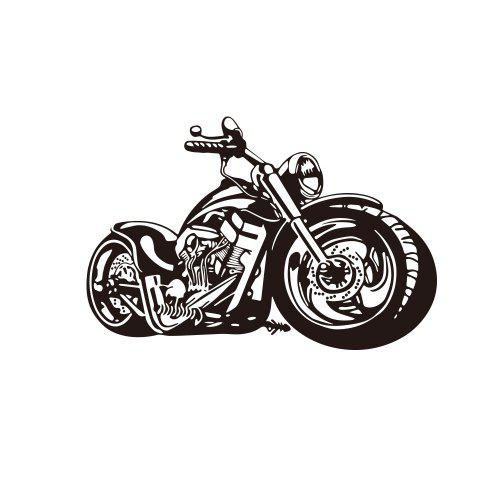 Creative Motorcycle Living Room Bedroom Wall Decoration Sticker Removable