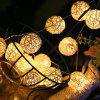 LED Rattan Ball Decorative Lamp String - MULTI-A