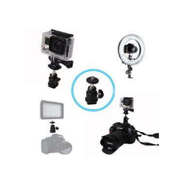 1/4 Mini Hot Shoe Ball Head Flash Holder Bracket Mount Screw for Camera Tripod