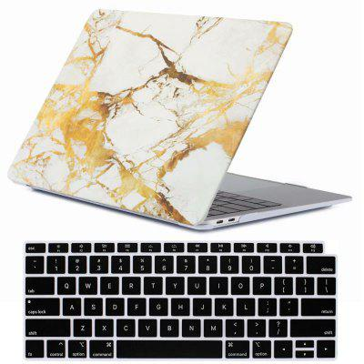 Mrnorthjoe Marble Pattern Case and Keyboard Cover for MacBook Air 13.3 inch 2018