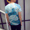 Summer New 3D Dolphin Print Fashion Men's T-Shirt - SEA BLUE