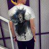 Casual New Men's Round Neck Short-Sleeved T-Shirt 3D Printing - LIGHT GRAY