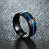 Titanium Carbide Men'S Jewelry Wedding Bands Classic Boyfriend Engagement Gift - CRYSTAL BLUE