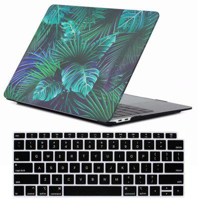 Mrnorthjoe Leaf Pattern Case and Keyboard Cover for MacBook Air 13.3 inch 2018