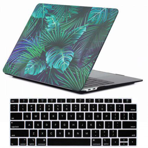 official photos 3de48 9faf6 Mrnorthjoe Leaf Pattern Case and Keyboard Cover for MacBook Air 13.3 inch  2018