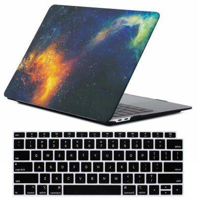 Mrnorthjoe Galaxy Matte Case and Keyboard Cover for MacBook Air 13.3 inch 2018