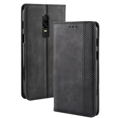 Durable PU Leather Flip Case for OnePlus 6
