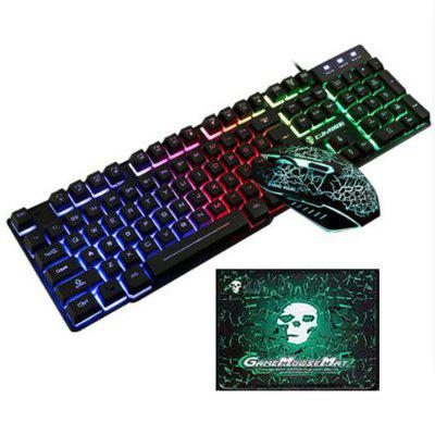 USB Wired Backlit Gaming Keyboard Mouse and Pad Kit 3pcs