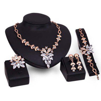New Woman Fashion Party Jewelry Sets Necklace Bracelets Rings and Earrings t0363