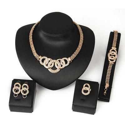 Nowa Lady Fashion Wedding Party Naśladuj Diamond Jewelry Set 0364